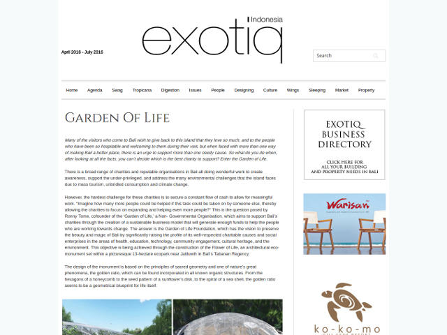 Exotiq Indonesia-Garden Of Life
