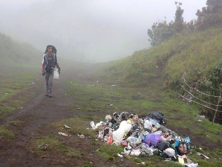 mounting trash green entrepreneurs from Indonesia